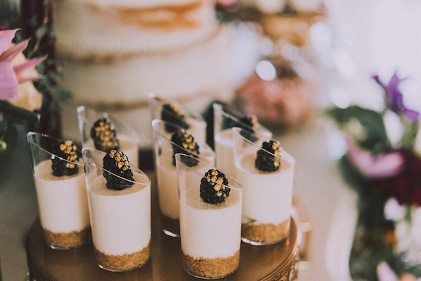 Blackberry wedding desserts- Cristina Navarro Photography
