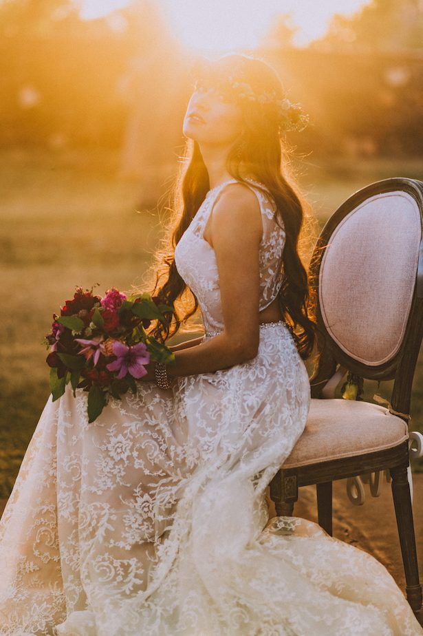 Blackberries and Champagne Wedding Inspiration with Mon Cheri Bridals