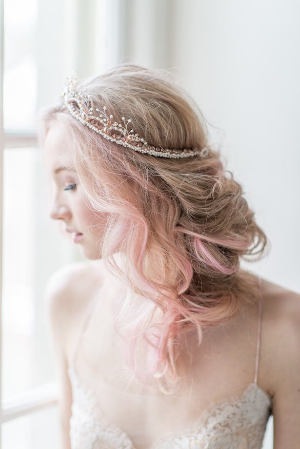 Bridal head piece - Whitney Heard Photography