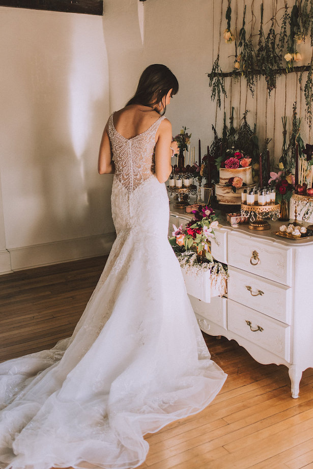 Illusion back wedding dress - Cristina Navarro Photography