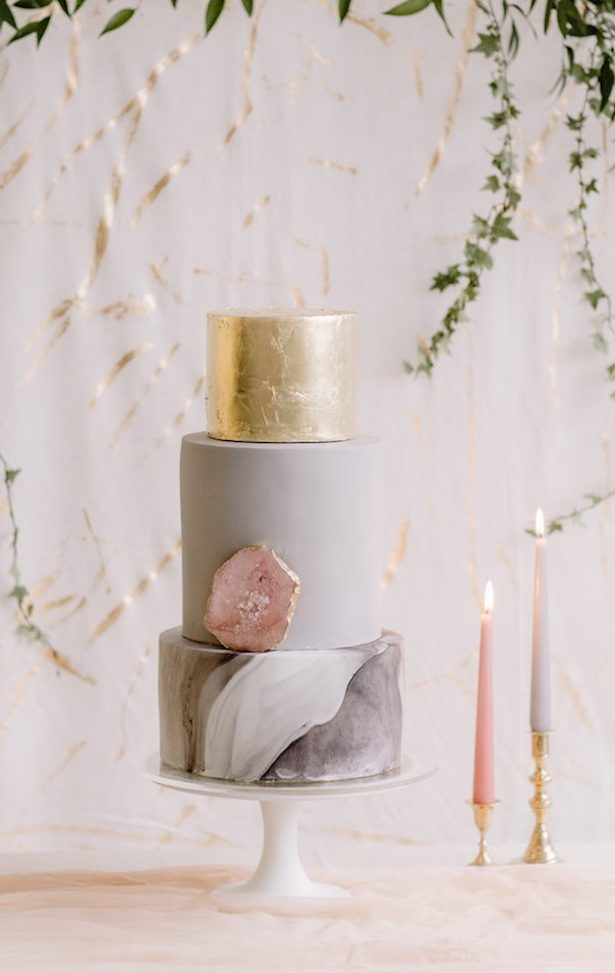 Marble Wedding Cakes - Rebecca Goddard Photography