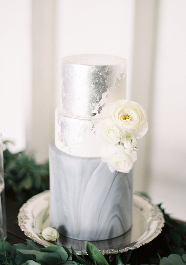 Marble Wedding Cakes - Mallory Dawn Photography