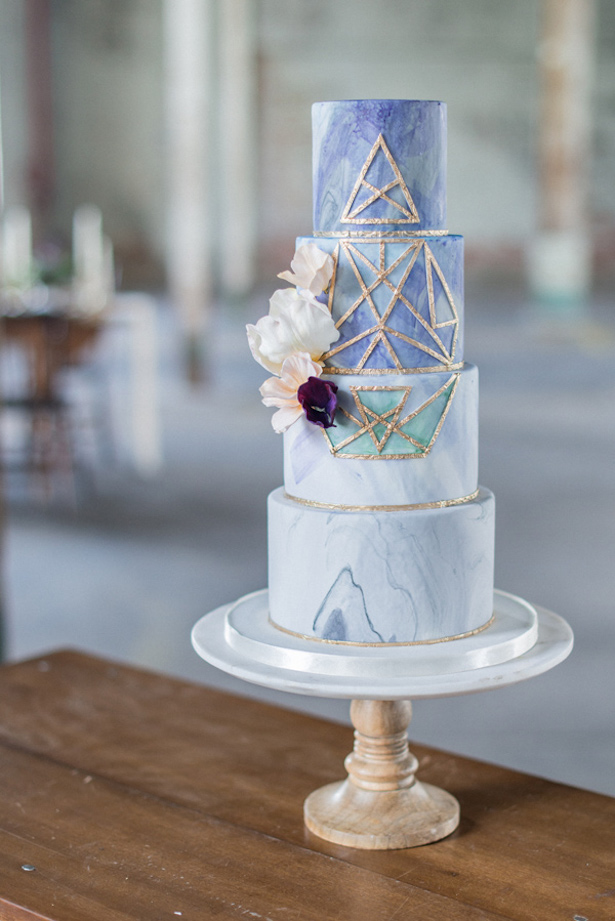 Marble Wedding Cakes: Laura Kelly Photography