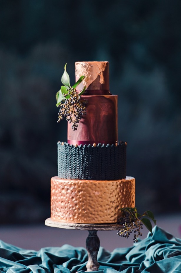 Marble Wedding Cakes - Benjamin Edwards Photography