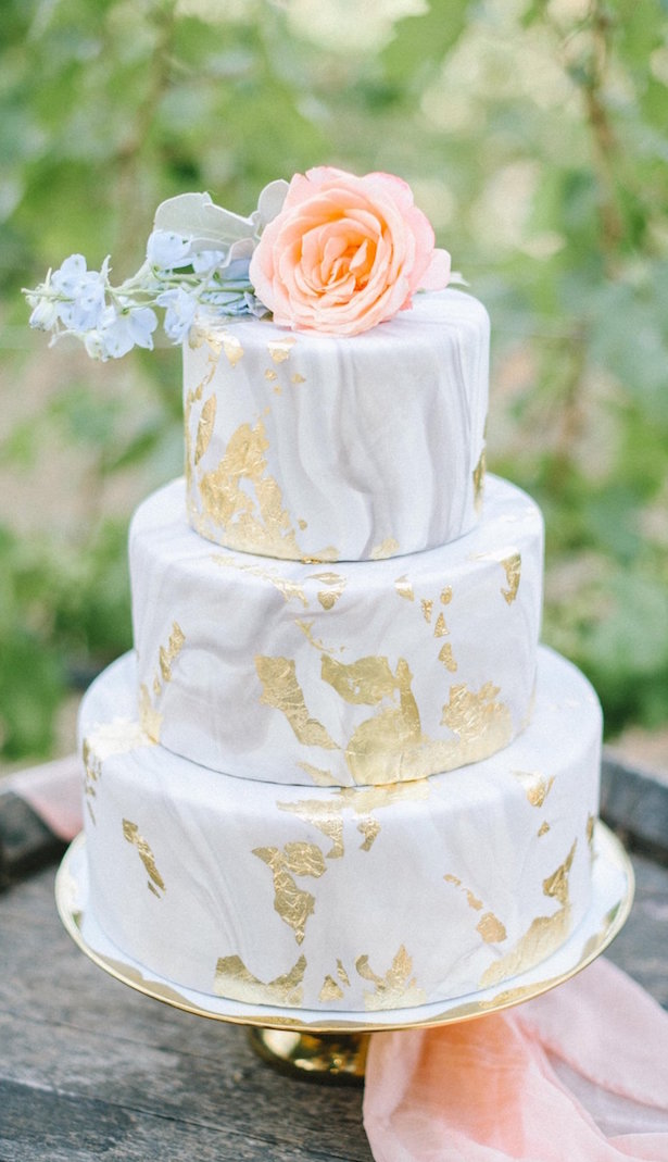 Marble Wedding Cakes - Danielle Yashar Photography