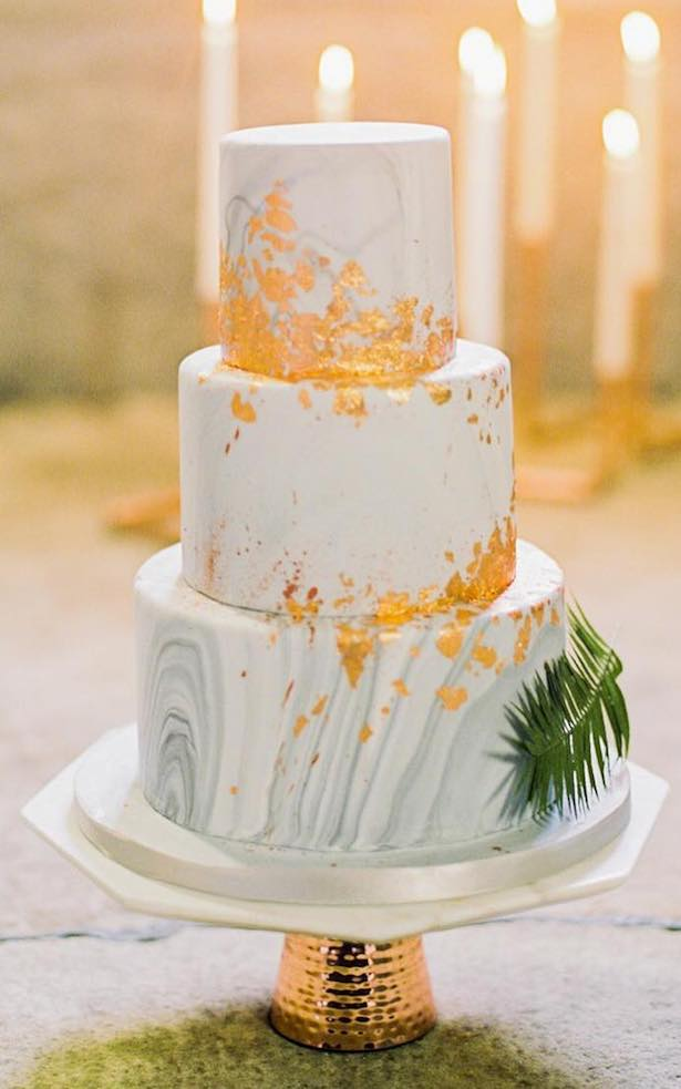 Marble Wedding Cakes - Photography: The Barefoot Brunettes