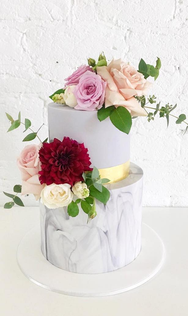 Marble Wedding Cakes - Ivy and Stone Cake Design