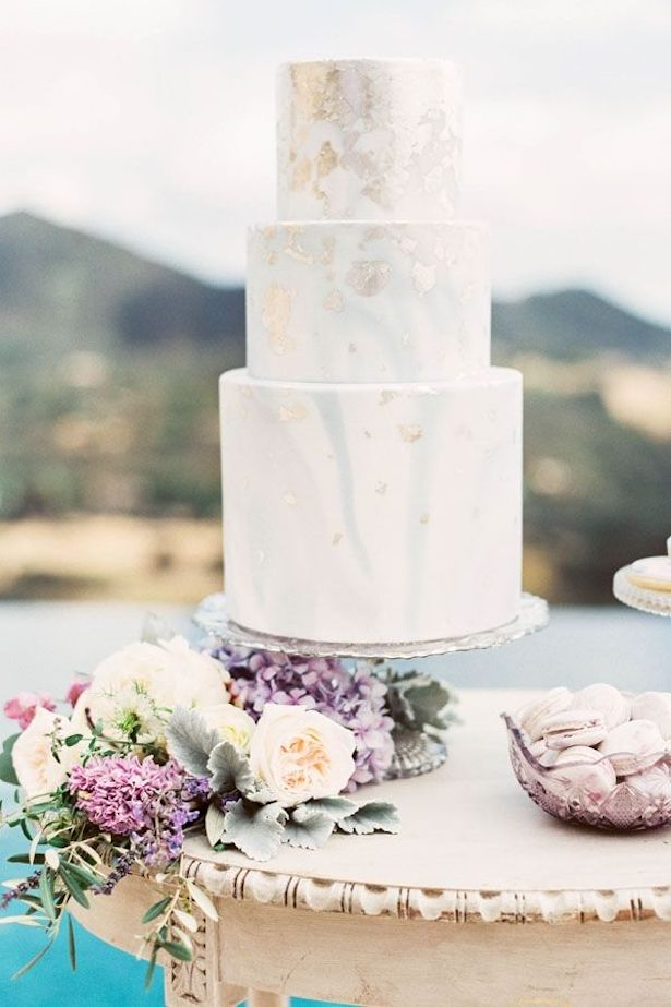 Marble Wedding Cakes - Photography: Sally Pinera