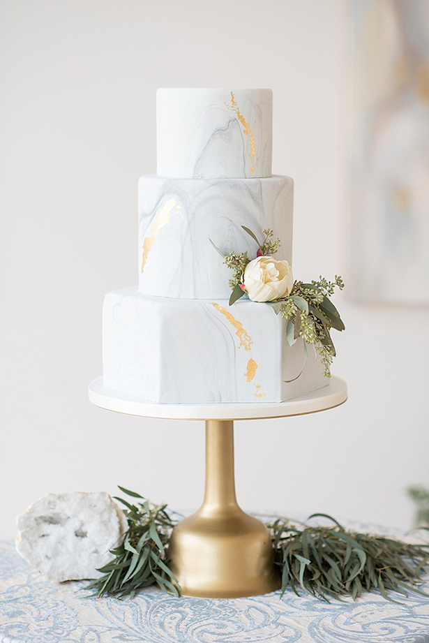Marble Wedding Cakes - Mikkel Paige Photography