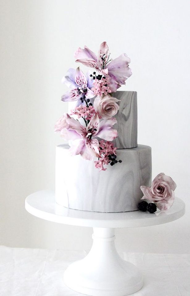 Marble Wedding Cakes - Winifred Kristé Cake