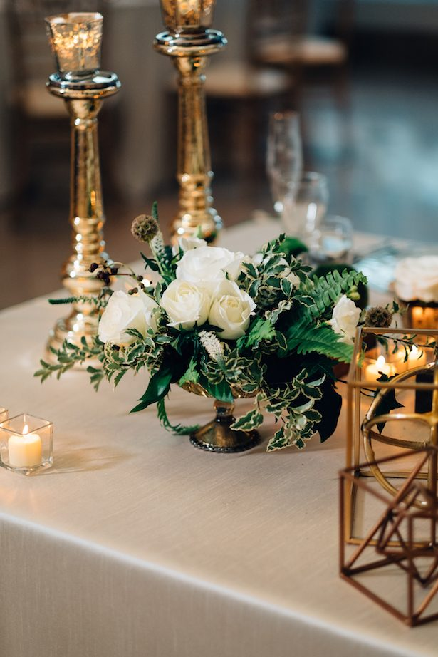 Short wedding centerpiece - Esteban Daniel Photography