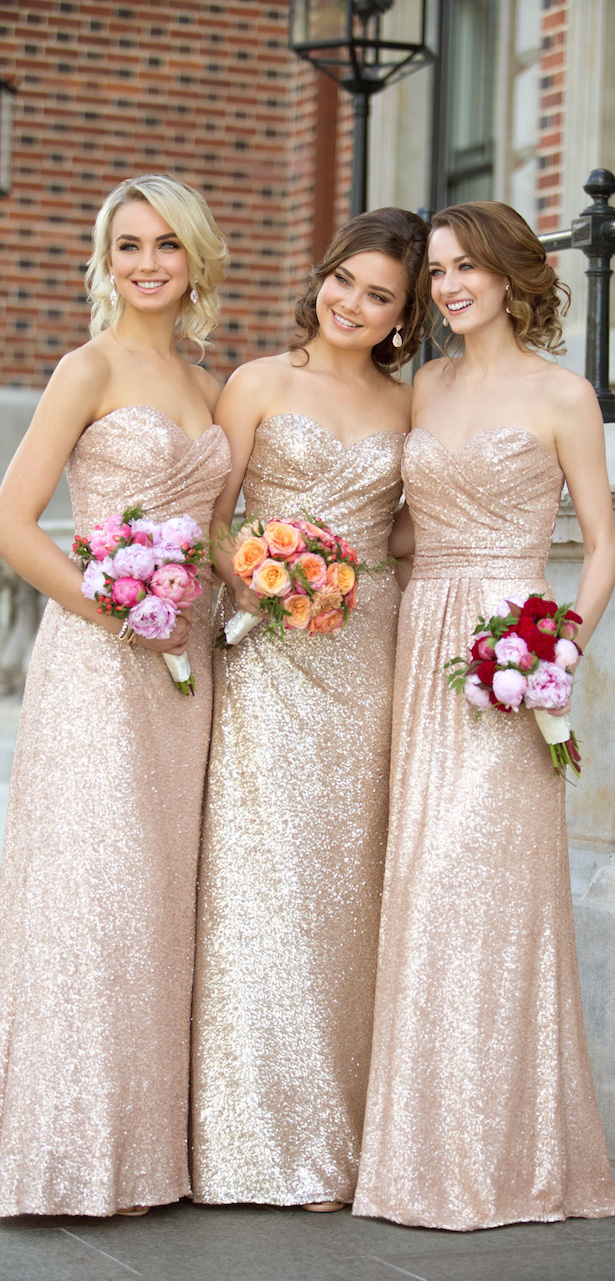 Floor Length Sequin Bridesmaid Dress by Sorella Vita