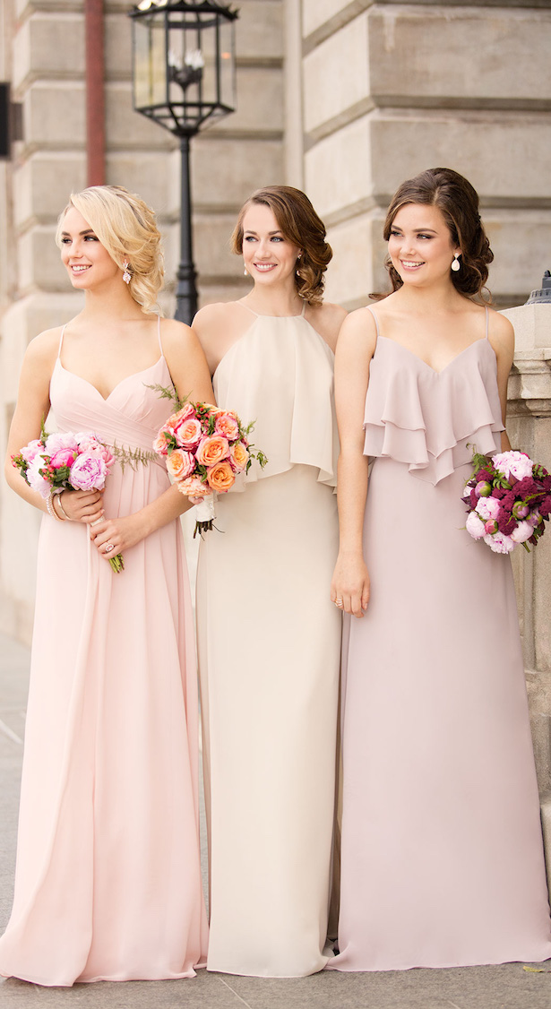 Mix and Match Neutral Bridesmaid Dresses by Storella Vita