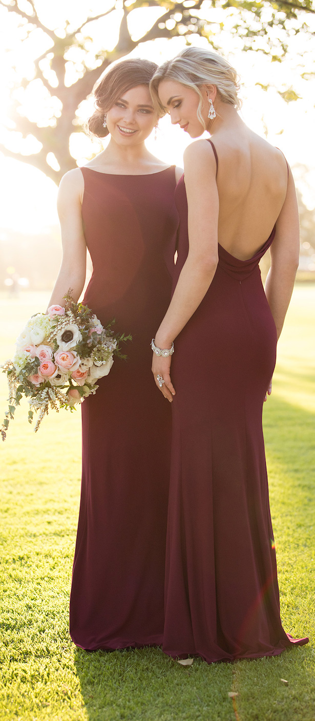 Burgundy Bridesmaid Dresses by Storella Vita