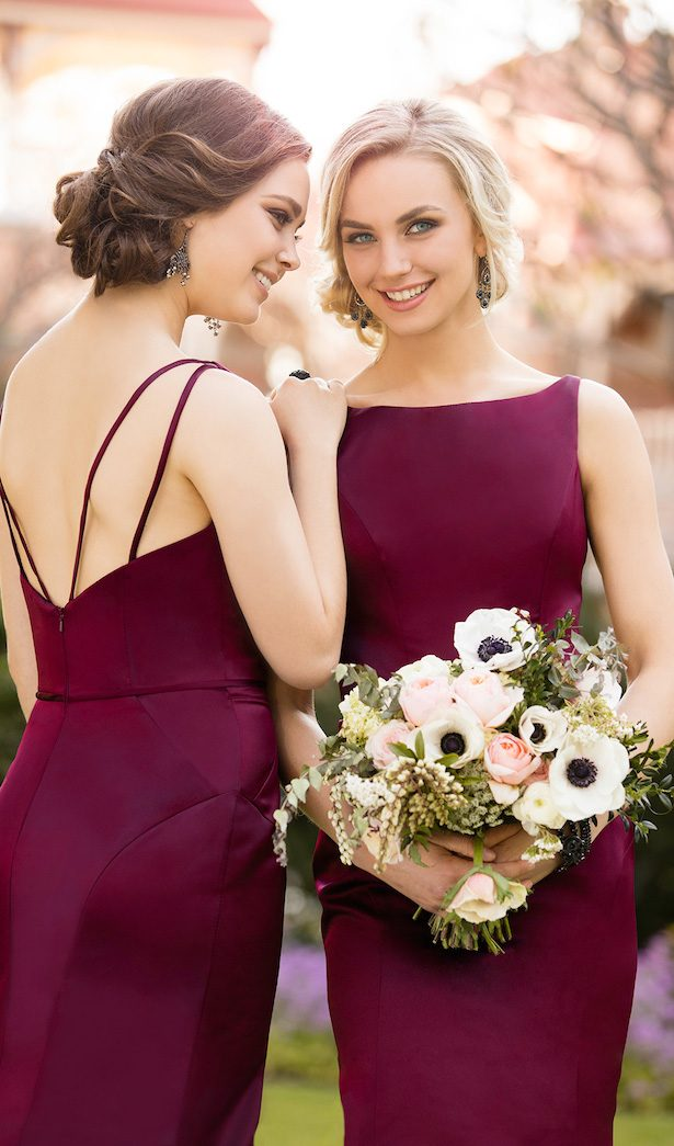 Burgundy Bridesmaid Dresses by Sorella Vita