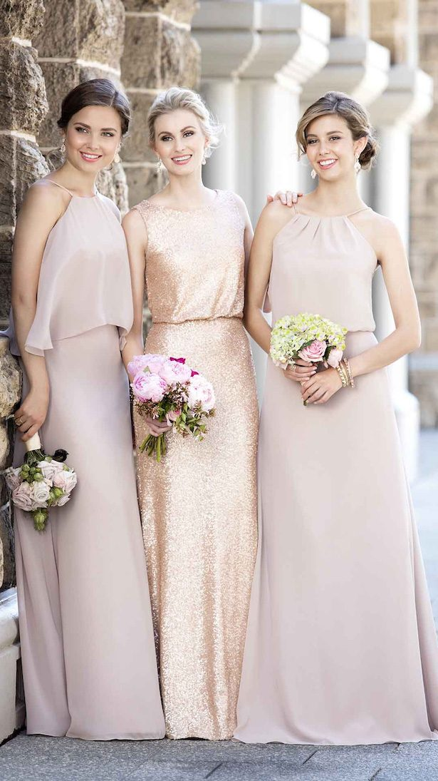 Mix and Match Neutral Bridesmaid Dresses by Sorella Vita