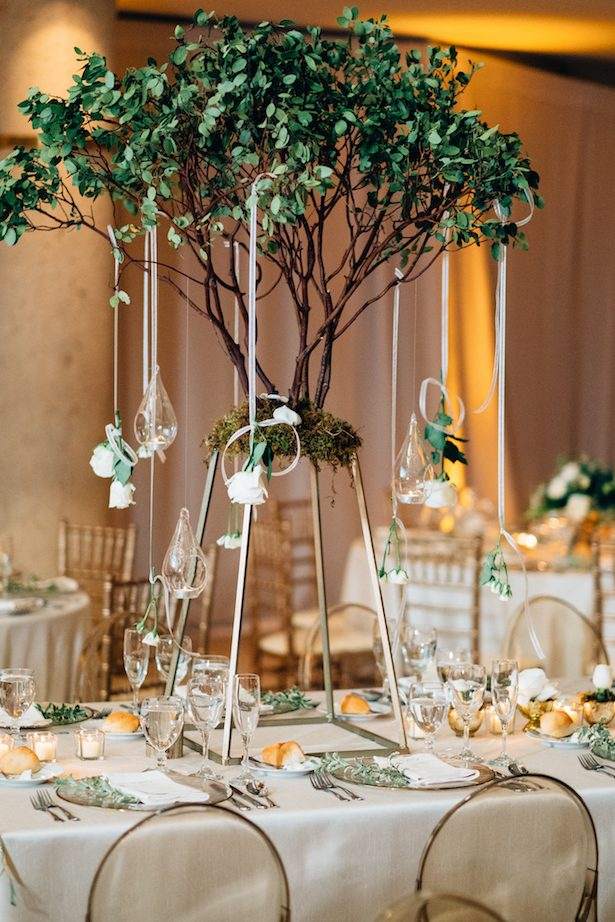Tall wedding centerpiece - Esteban Daniel Photography