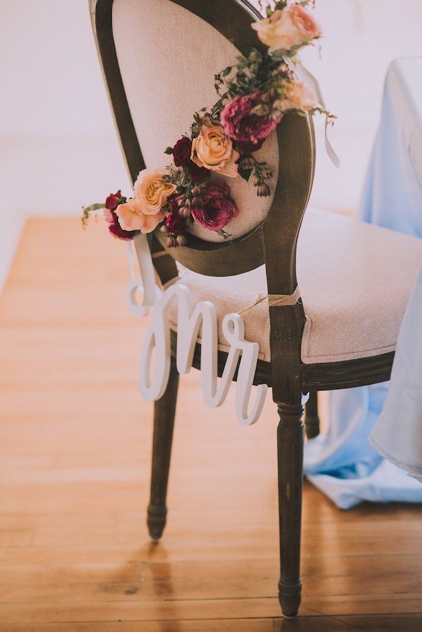 Wedding Chair and sign - Cristina Navarro Photography