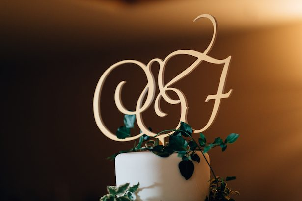 Wedding cake toper - Esteban Daniel Photography