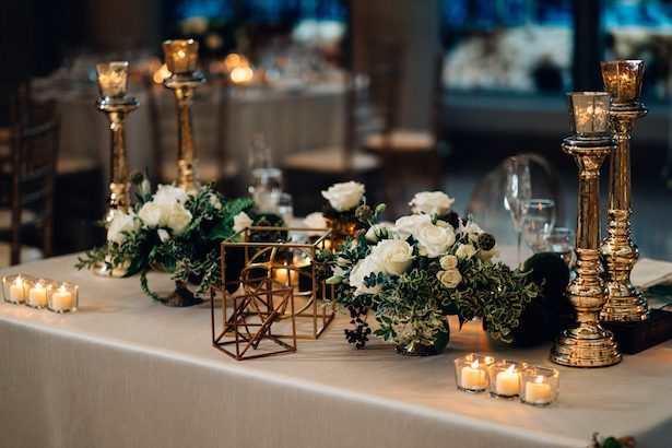 Greenery and gold Wedding decor - Esteban Daniel Photography