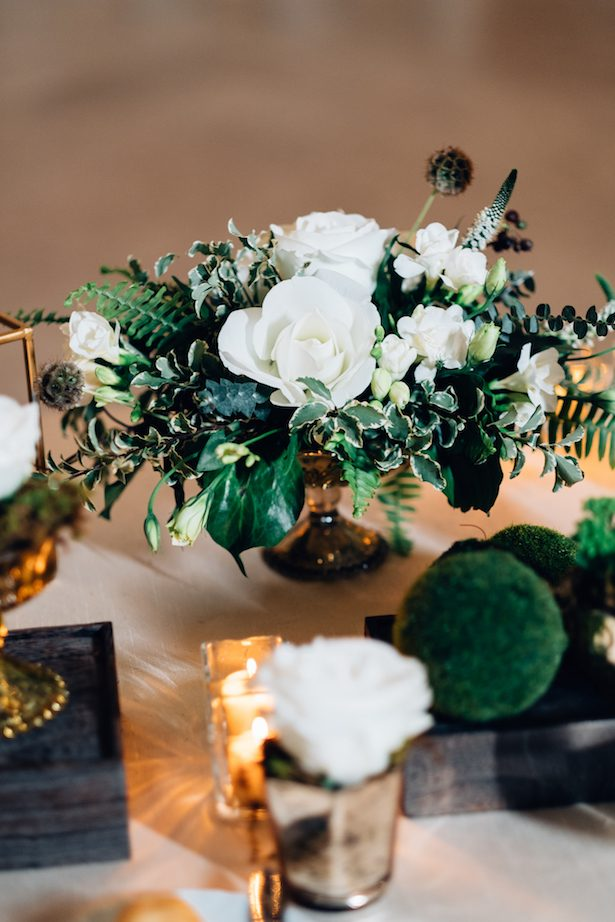 Wedding floral centerpiece - Esteban Daniel Photography