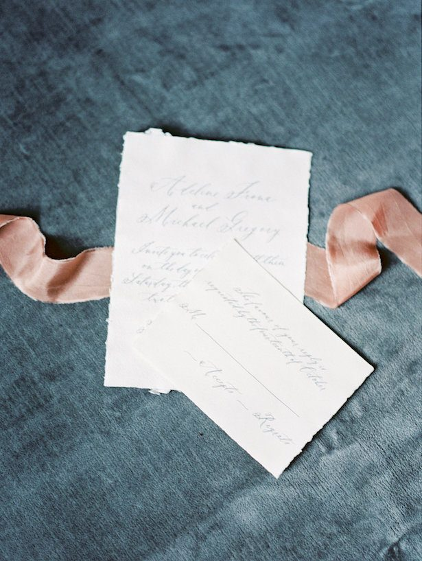 Wedding invitation - Whitney Heard Photography