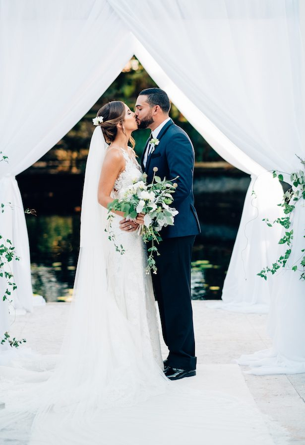 Gold and Greenery Wedding in Puerto Rico