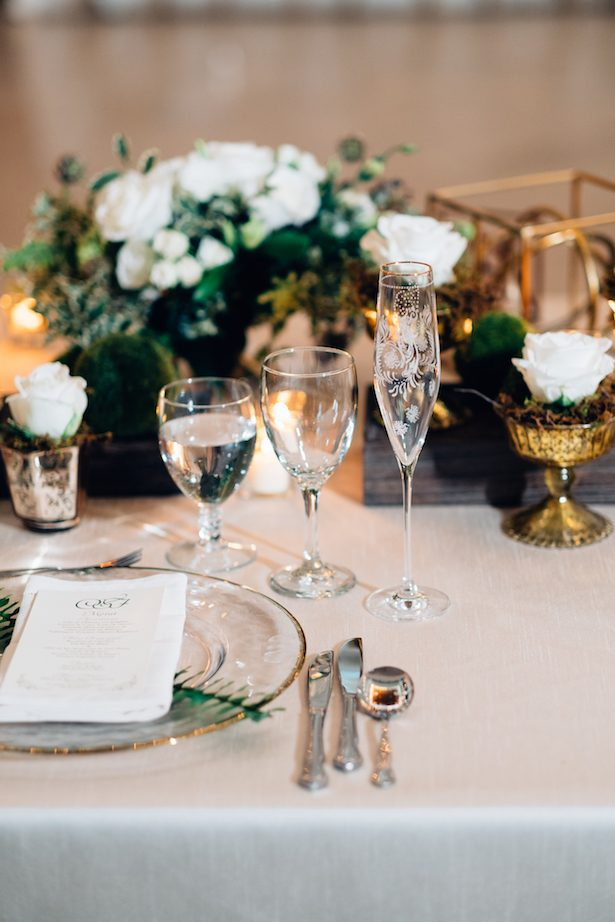 Wedding place setting - Esteban Daniel Photography