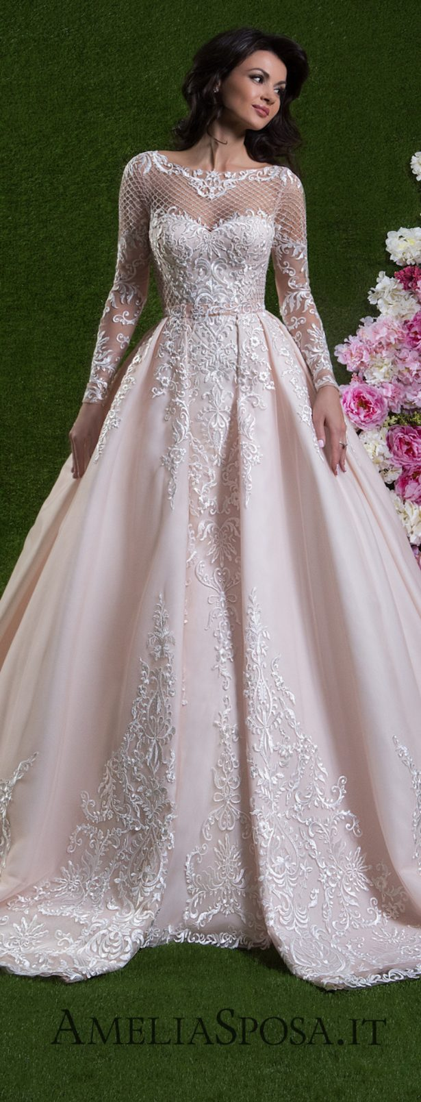 Informal Lace Chiffon Modest Plus Size Wedding Dresses