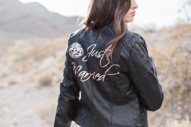 BRIDAL LEATHER JACKET - Coffee Creative Photography