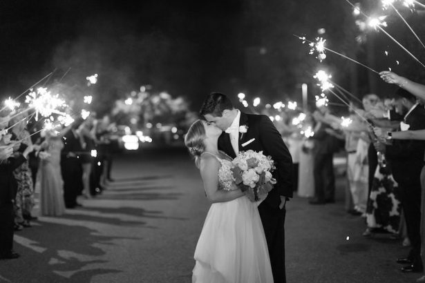 Black and white wedding photo - PSJ Photography