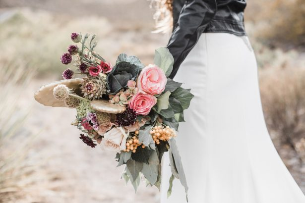 Bohemian wedding bouquet - Coffee Creative Photography