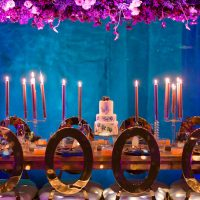 Candelabra wedding centerpiece - Gavin Farrington Photography