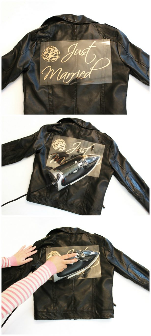 DIY Bridal Leather Jacket with Cricut - instructions