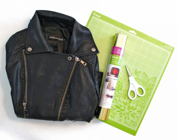 DIY Bridal Leather Jacket with Cricut - supplies
