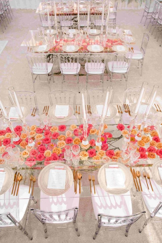 Glamorous Wedding Tablescape - Design + via: White Lilac Inc.