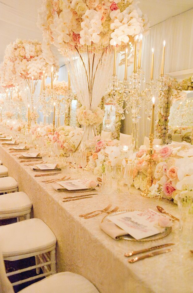 Glamorous Wedding Tablescape - Ted and Li Photography