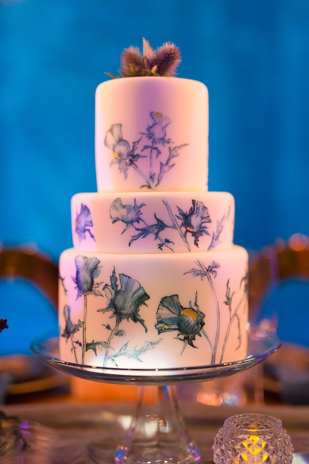 Hand painted wedding cake - Gavin Farrington Photography