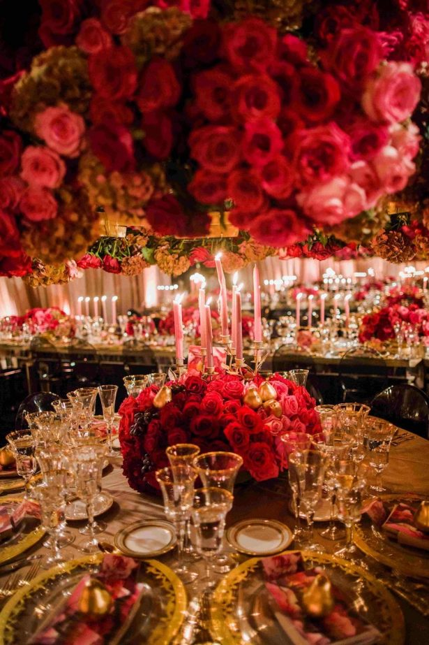 Luxury Wedding Tablescape - Design + via: White Lilac Inc.