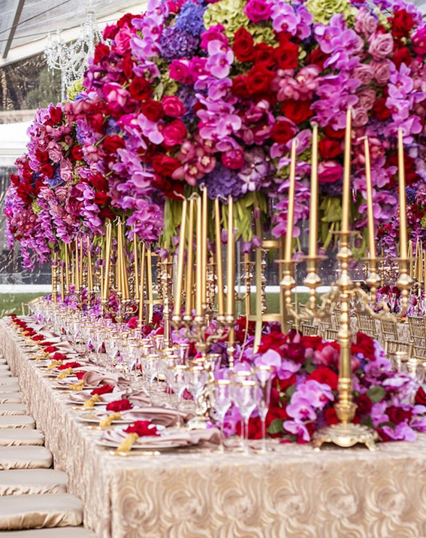 Luxury Wedding Tablescape - via The Floral Experience