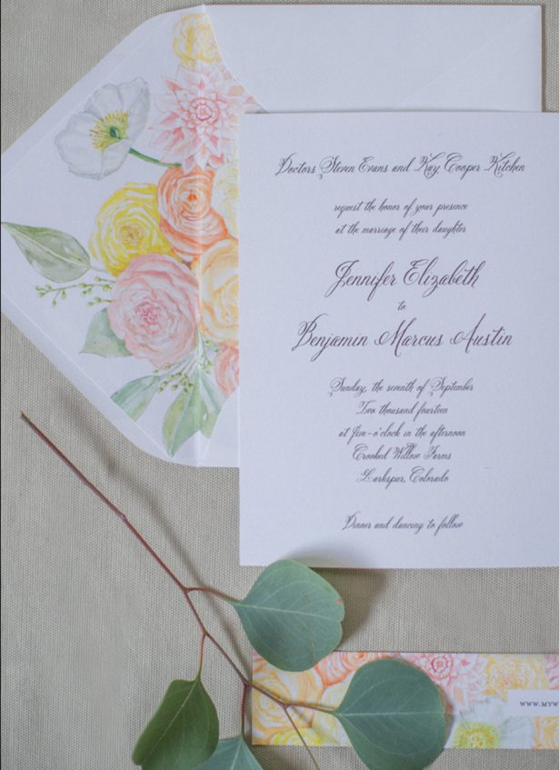 Peony Wedding Invitations: Shannon Von Eschen Photography