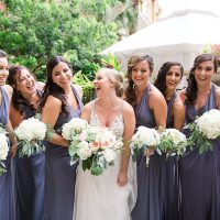 Purple bridesmaid dresses - PSJ Photography