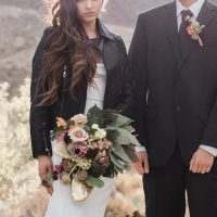 Wedding Leather jacket -Coffee Creative Photography