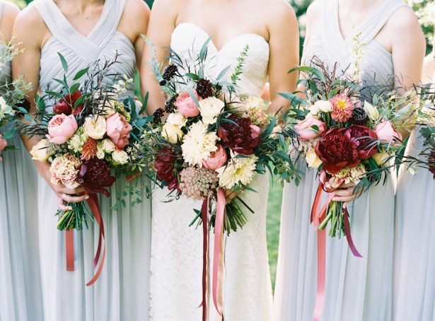 Wedding Peony bouquets - Austin Gros Photography
