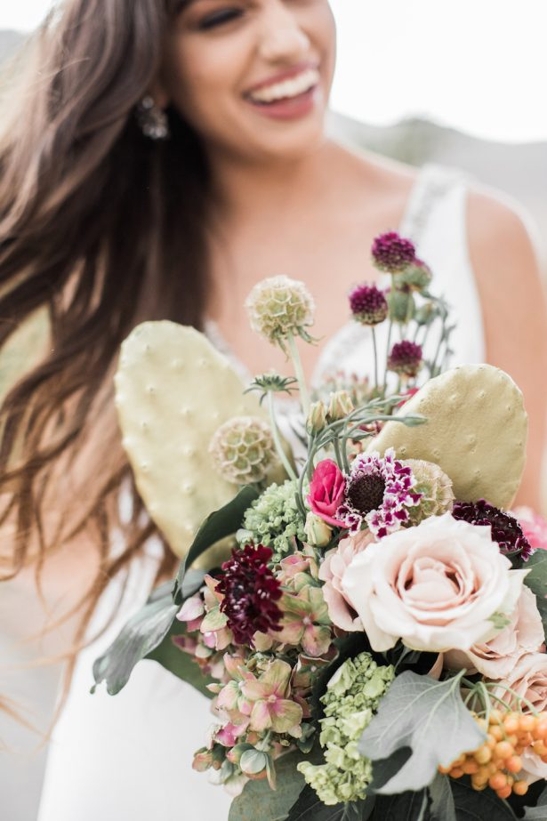 Wedding bouquet with cactus - Coffee Creative Photography