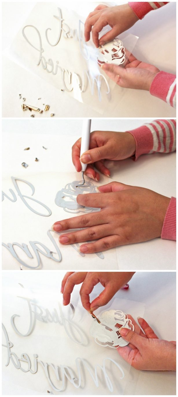 Weeding with Cricut Iron on