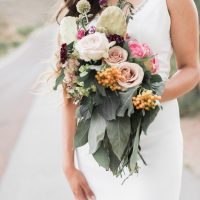 Bohemian Bridal Bouquet - Coffee Creative Photography