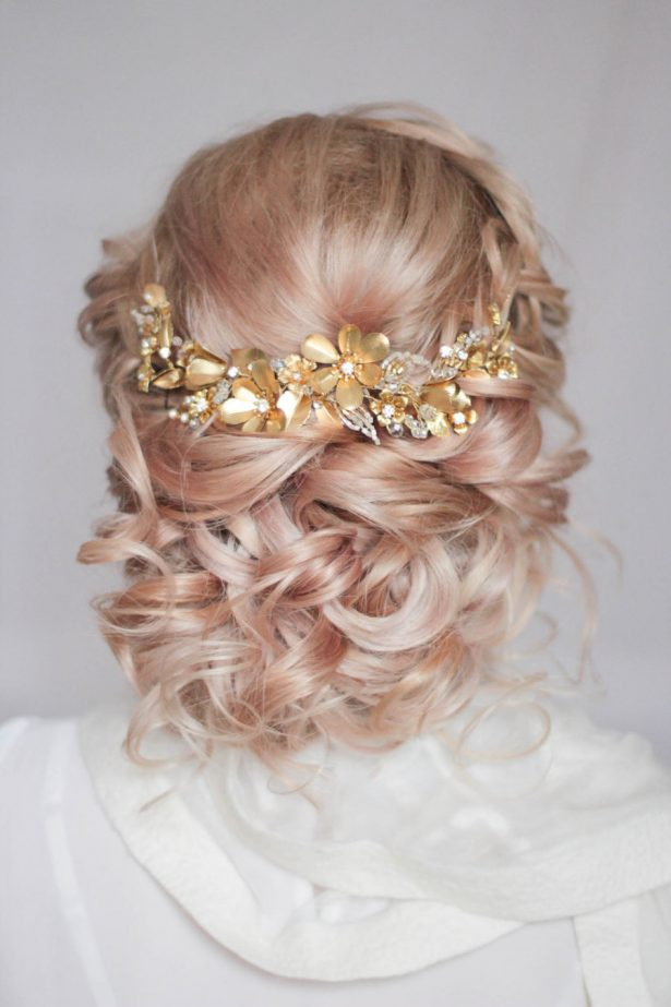 Gold Wedding Headpiece, Bridal Hair Piece