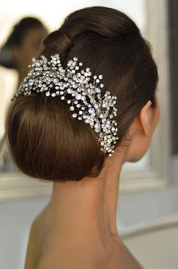 Rhinestone Wedding headpiece, Crystal Bridal tiara,