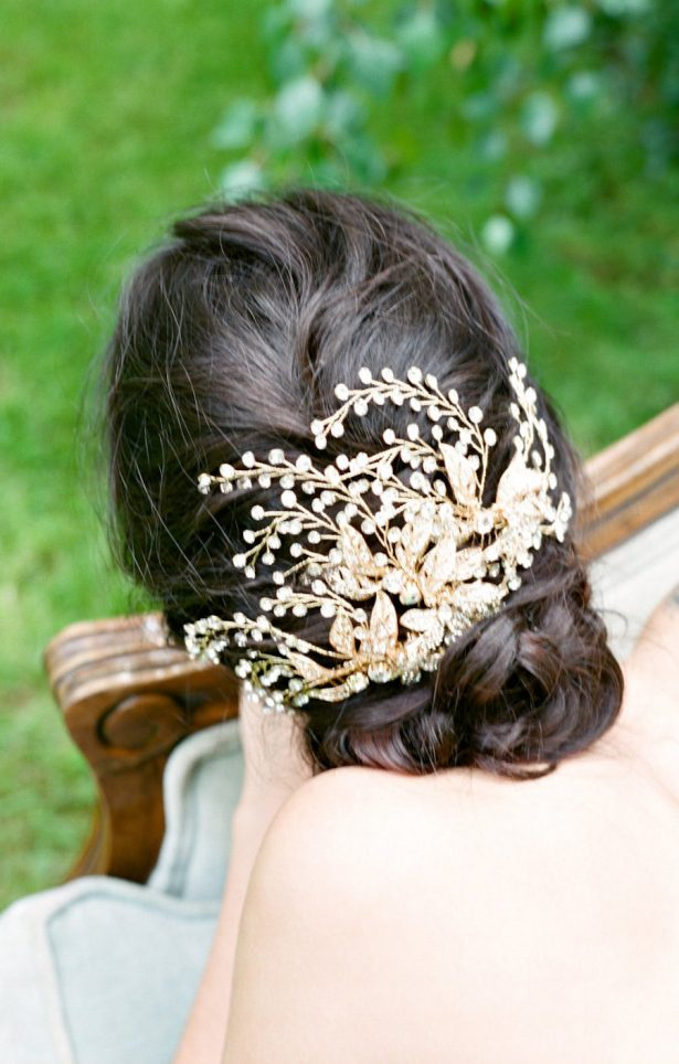 Gorgeous Gold Bridal Headpiece, Large Gold Headpiece